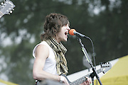 Manchester, TN, June 12, 2005; Matthew Followill of Kings of Leon performs during The Bonnaroo 2005 Arts and Music Festival. Mandatory Credit: Photo by Bryan Rinnert