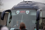 The Barnsley team coach as it arrives for the The FA Cup 3rd round match between Burnley and Barnsley at Turf Moor, Burnley, England on 5 January 2019.