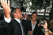 Matt Damon and Paddy Considine, Premiere of The Bourne Ultimatum. Odeon, Leicester Sq. London. 15 August 2007.   -DO NOT ARCHIVE-© Copyright Photograph by Dafydd Jones. 248 Clapham Rd. London SW9 0PZ. Tel 0207 820 0771. www.dafjones.com.