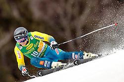 04.03.2017, Podkoren, Kranjska Gora, SLO, FIS Weltcup Ski Alpin, Kranjska Gora, Riesenslalom, Herren, 1. Lauf, im Bild Matts Olsson (SWE) // Matts Olsson of Sweden in action during his 1st run of men's Giant Slalom of FIS ski alpine world cup at the Podkoren in Kranjska Gora, Slovenia on 2017/03/04. EXPA Pictures © 2017, PhotoCredit: EXPA/ Johann Groder