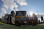 November 03, 2018:  A general view of the Boilermaker Xtra Special prior to NCAA football game action between the Iowa Hawkeyes and the Purdue Boilermakers at Ross-Ade Stadium in West Lafayette, Indiana.  Purdue defeated Iowa 38-36.