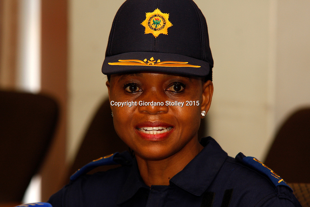 DURBAN - 16 December 2015 - Lieutenant General Bonang Mgwenya of the South African Police service speaks at a press conference where Hawks boss Berning Ntlemeza said he had submitted a proposal that people convicted of being illegally in possession of a weapon should be to imprisonment for life, Mgwenya, Ntlemeza and KwaZulu-Natal provincial commissioner Betty Mmamonnye Ngobeni addressed press about the police's festive season crime combatting operations. Picture: Allied Picture Press/APP