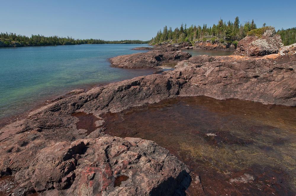 Lake Superior shoreline at Isle Royale National Park.