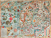 The Carta Marina (Latin 'map of the sea'), created by Olaus Magnus in the 16th century, is the earliest map of the Nordic countries that gives details and placenames. The map was created in Rome by the Swedish ecclesiastic Olaus Magnus (1490–1557),