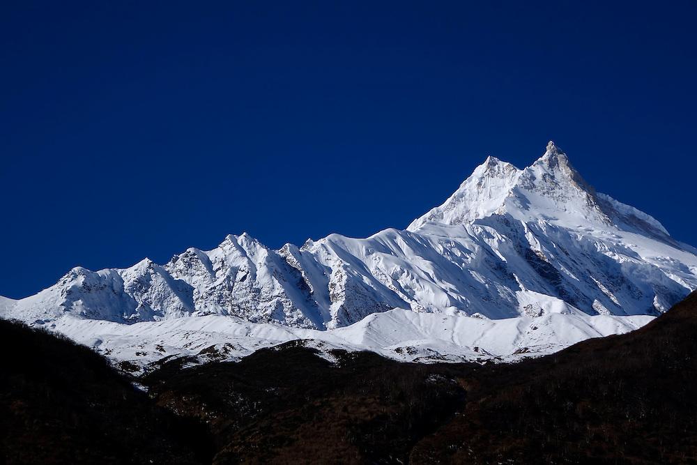 Manaslu, at 8156 meters (26,759 feet) high is the eighth highest peak on the planet.
