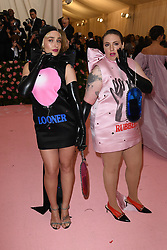 Jemima Kirke and Lena Dunham attend The 2019 Met Gala Celebrating Camp: Notes on Fashion at Metropolitan Museum of Art on May 06, 2019 in New York City.<br /> Photo by ABACAPRESS.COM