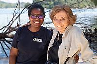Syvlia Earle and Angelique Pouponneau (Seychelles Hope Spot Champion)
