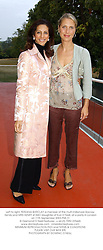Left to right, FERZANA BARCLAY a member of the multi-millionare Barclay family and MRS HENRY d'ABO daughter of Eva O'Neill, at a party in London on 11th September 2003.PMI 31