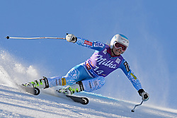 26.10.2013, Rettembach Ferner, Soelden, AUT, FIS Ski Alpin, FIS Weltcup, Ski Alpin, 1. Durchgang, im Bild Julia Mancuso from The USA races down the course // Julia Mancuso from The USA races down the course during 1st run of ladies Giant Slalom of the FIS Ski Alpine Worldcup opening at the Rettenbachferner in Soelden, Austria on 2012/10/26 Rettembach Ferner in Soelden, Austria on 2013/10/26. EXPA Pictures © 2013, PhotoCredit: EXPA/ Mitchell Gunn<br /> <br /> *****ATTENTION - OUT of GBR*****