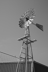 rustic windmill found on Route 66 in Oklahoma