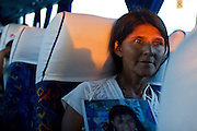 Mothers from Central America who search the whereabouts of their family members in Mexico  travel 476 km (295 milles) direction north from Villahermosa, Tabasco into Amatlán de los Reyes, Veracruz, where they meet Las Patronas, a female collective who feeds the migrants in the train rails. (Photo: Prometeo Lucero)