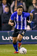 Sheffield Wednesday defender Liam Palmer (2) on the ball during the The FA Cup 3rd round replay match between Luton Town and Sheffield Wednesday at Kenilworth Road, Luton, England on 15 January 2019.