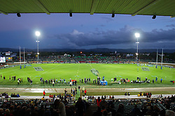 A general view of Arena Manawatu during the Super 12 rugby union match between the Hurricanes and the Stormers at Arena Manawatu, Palmerston North, New Zealand on Friday 25th March, 2005. The Hurricanes won the match 12-9. Photo: Marty Melville/Photosport....119019