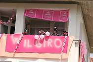 Locals welcomed the tour after over 40 years during stage 17 of the Giro D'Italia, Iseo Italy on 23 May 2018. Picture by Graham Holt.