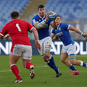 Roma 13/03/2021, Stadio Olimpico<br /> Guinness Six Nations 2021<br /> Italia vs Galles<br /> <br /> Sebastian Negri