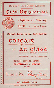 All Ireland Senior Hurling Championship Final,.Brochures,.03.09.1944, 09.03.1944, 3rd September 1944, .Cork 2-13, Dublin 1-2, .Senior Cork v Dublin, .Croke Park, 0391944AISHCF, .