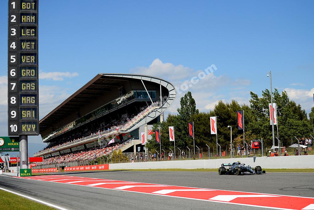 Valtteri Bottas (Mercedes) during practice before the 2019 Spanish Grand Prix at the Circuit de Barcelona-Catalunya. Photo: Grand Prix Photo