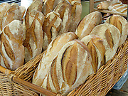 Fresh baked bread in basket