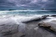 Dark November Morning By the Seaside Of Varna