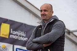 Jure Zdovc at Medal ceremony during 6. Konjiski maraton / 6th Konjice marathon 2018, on September 30, 2018 in Slovenske Konjice, Slovenia. Photo by Grega Valancic/ Sportida