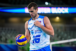 Gregor Ropret of Slovenia during volleyball match between Cuba and Slovenia in Final of FIVB Volleyball Challenger Cup Men, on July 7, 2019 in Arena Stozice, Ljubljana, Slovenia. Photo by Matic Klansek Velej / Sportida