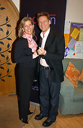 HRH The COUNTESS OF WESSEX and musician BRYAN ADAMS at a party attended by HRH The Countess of Wessex to celebrate the 5th birthday of Breast Cancer Haven's - The London Haven, Effie Road, London on 10th February 2005.<br />