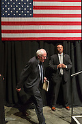 Democratic presidential candidate Senator Bernie Sanders walks on stage for a campaign rally at the Memminger Theater February 16, 2016 in Charleston, South Carolina, USA.