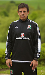 CARDIFF, WALES - Monday, May 23, 2016: Wales national team manager Chris Coleman after agreeing a contract extension until the end of the 2018 World Cup Qualifying campaign, announced during a press conference at the Vale Resort Hotel. (Pic by David Rawcliffe/Propaganda)