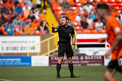 Ref Steven McLean. Dundee United 4 v 1 Inverness Caledonian Thistle, first Scottish Championship game of season 2019-2020, played 3/8/2019 at Tannadice Park, Dundee.