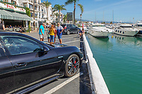 Changed times. Not so long ago getting parked at the marina in Puerto Banus, Marbella, Spain, was a nightmare. This photograph was taken October 2018. 2018101205123 <br /><br />Copyright Image from Victor Patterson, 54 Dorchester Park, Belfast, UK, BT9 6RJ<br /><br />t1: +44 28 9066 1296 (from Rep of Ireland 048 9066 1296)<br />t2: +44 28 9002 2446 (from Rep of Ireland 048 9002 2446)<br />m: +44 7802 353836<br /><br />e: victorpattersonbelfast@gmail.com<br /><br />The use of any of my copyright images is subject to my Terms & Conditions. It is IMPORTANT that you familiarise yourself with them. They are available at my website, victorpatterson.com.<br /><br />None of my copyright images may be used on the Internet unless they are visibly watermarked, i.e. © Victor Patterson within the body of the image. My metadata, denoting my copyright must NOT be deleted. <br /><br />Web use is extra at currently recommended NUJ rates. Maximum permitted web size is<br /> 400kb. <br /><br />Images must not be passed on to a third party - they are for the use of the authorised recipient only.