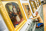 The return and re-hanging of the nation's Pre-Raphaelite works, including Millais' Ophelia, to Tate Britain. They are going back on display from Thursday 7 August 2014 after being seen by over 1.1 million people worldwide. They include: John Everett Millais' , Ophelia; Beata Beatrix by Dante Gabriel Rossetti; The Lady of Shalott by John William Waterhouse (pictured left); The Beloved by Rossetti; and Mariana by John Everett Millais. These works are being displayed in the 'grand' surroundings of the 1840 galleries as part of the BP Walk through British Art. <br /> Millbank,  London, UK.