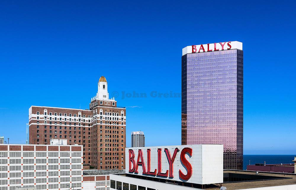 Casinos overlooking the Atlantic Ocean, Atlantic City, New Jersey, USA