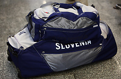 Bags of Slovenian Olympic Team at departure to Beijing 2008 Olympic games, on July 31, 2008, at Airport Jozeta Pucnika, Brnik, Slovenia. (Photo by Vid Ponikvar / Sportal Images)/ Sportida)