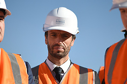 President of the Paris Organizing Committee of the 2024 Olympic and Paralympic Games Tony Estanguet attends French President's visit to the construction site of the 2024 Olympic Games Village in Saint-Ouen on the outskirts of Paris, France on October 14, 2021, part of a visit to construction sites dedicated to the Paris 2024 Olympic and Paralympic Games. Photo by Eliot Blondet/ABACAPRESS.COM