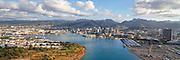 Honolulu Harbor, Oahu, Hawaii, aerial