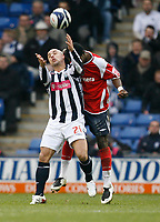 Photo: Steve Bond/Sportsbeat Images.<br />West Bromwich Albion v Charlton Athletic. Coca Cola Championship. 15/12/2007. Kevin Phillips (L) is challanged from behind