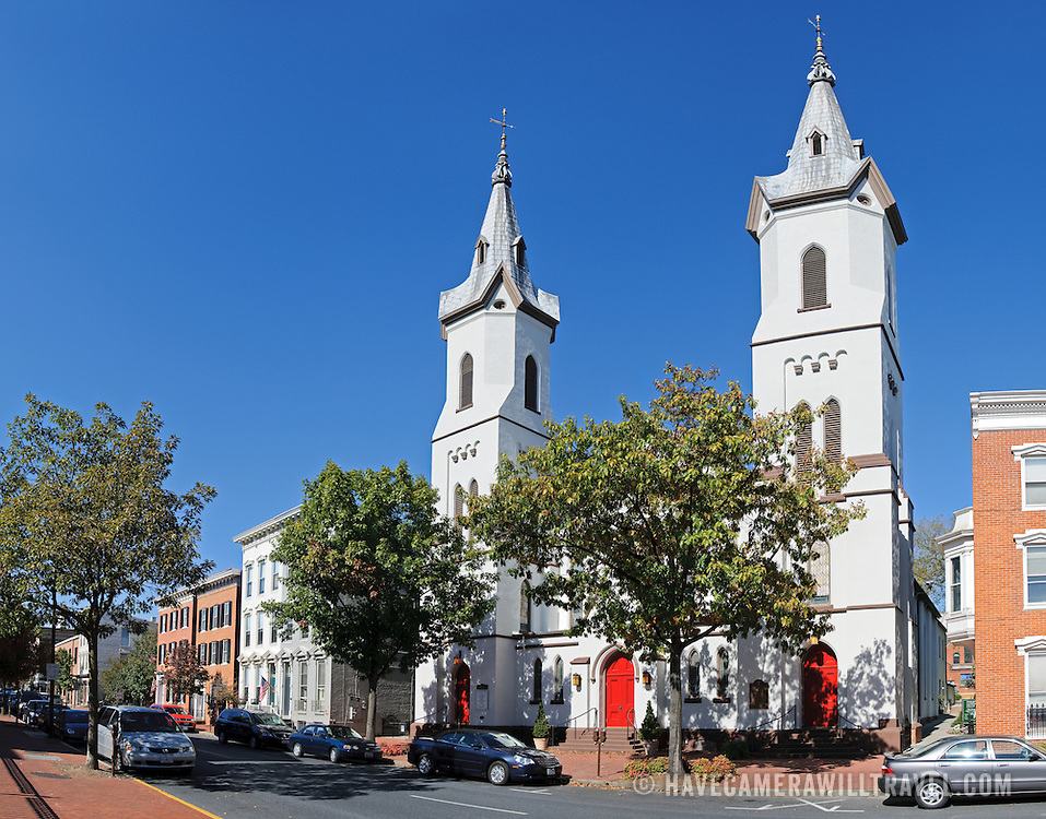 The Evangelical Lutheran Church in Frederick, Maryland. High resolution panorama.