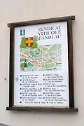 map over vineyards andlau alsace france