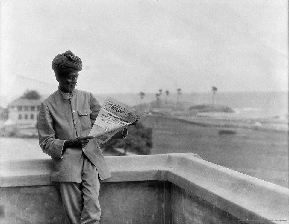 Our Boy N Reading Tempo, Cape Comorin, India, 1929