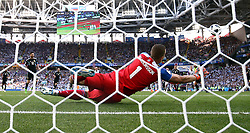 Argentina's Lionel Messi sees his penalty saved by Iceland goalkeeper Hannes Thor Halldorsson
