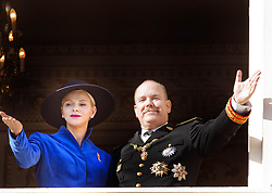 November 19, 2017 - Monte Carlo, MONACO - 19-11-2017 Monaco Princess Charlene of Monaco and Prince Albert during the Monaco National Day Celebrations in Monaco...© PPE/Nieboer.Credit: PPE/face to face.- No rights for the Netherlands  (Credit Image: © face to face via ZUMA Press)