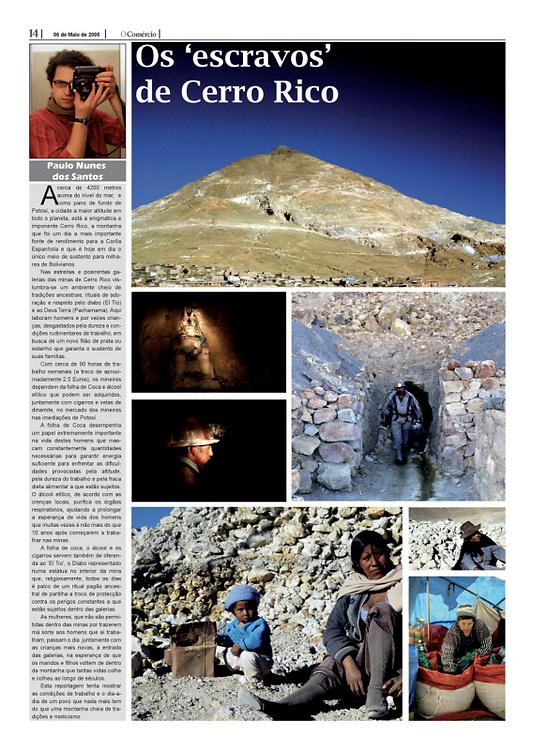 """""""Os escravos de Cerro Rico"""" in O Comercio"""