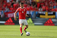 Ben Davies of Wales in action. Euro 2016, Wales v Slovakia at Matmut Atlantique , Nouveau Stade de Bordeaux  in Bordeaux, France on Saturday 11th June 2016, pic by  Andrew Orchard, Andrew Orchard sports photography.