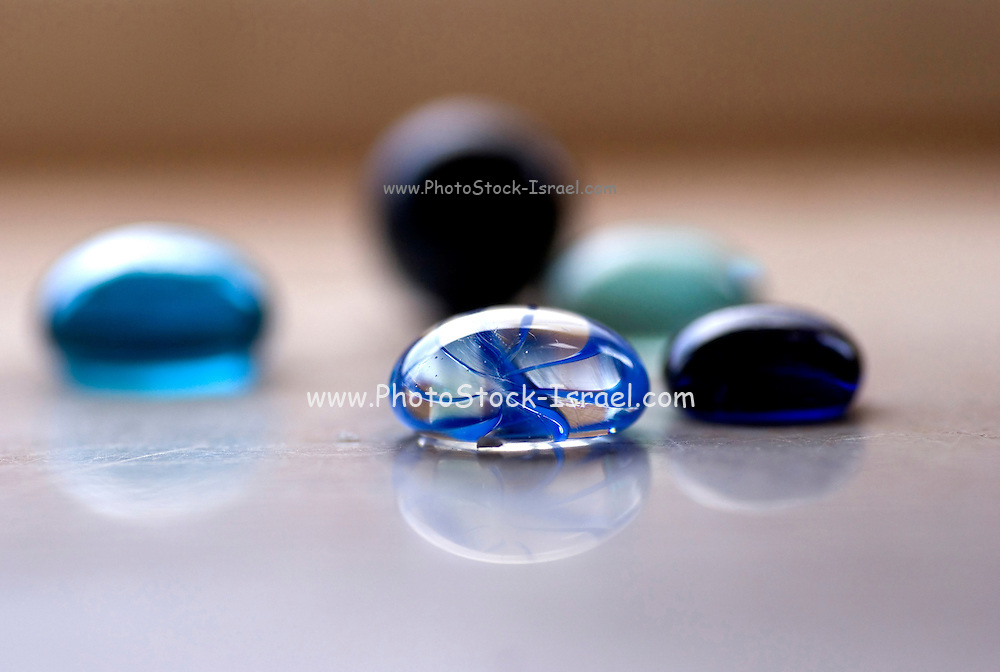 Drops of glass, Glass beads shaped as drops Clear