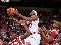 FAYETTEVILLE, AR - JANUARY 29:   Michael Washington of the Arkansas Razorbacks goes in for a lay up during their game against  the Alabama Crimson Tide at Bud Walton Arena on January 29, 2009 in Fayetteville, Arkansas.  The Razorbacks defeated the Crimson Tide 89-80.  (Photo by Wesley Hitt/Getty Images) *** Local Caption *** Michael WashingtonUniversity of Arkansas Razorback Men's and Women's athletes action photos during the 2008-2009 season in Fayetteville, Arkansas....©Wesley Hitt.All Rights Reserved.501-258-0920.