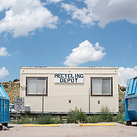 071615      Cayla Nimmo<br /> <br /> The recycling depot at the Larry Brian Mitchell Recreation Center in Gallup is open for use during limited hours throughout the week.