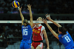 25-08-2010 VOLLEYBAL: WGP FINAL CHINA - ITALY: BEILUN NINGBO<br /> Italy swept past China in straight sets in their opening match / Yunli Xu<br /> ©2010-WWW.FOTOHOOGENDOORN.NL