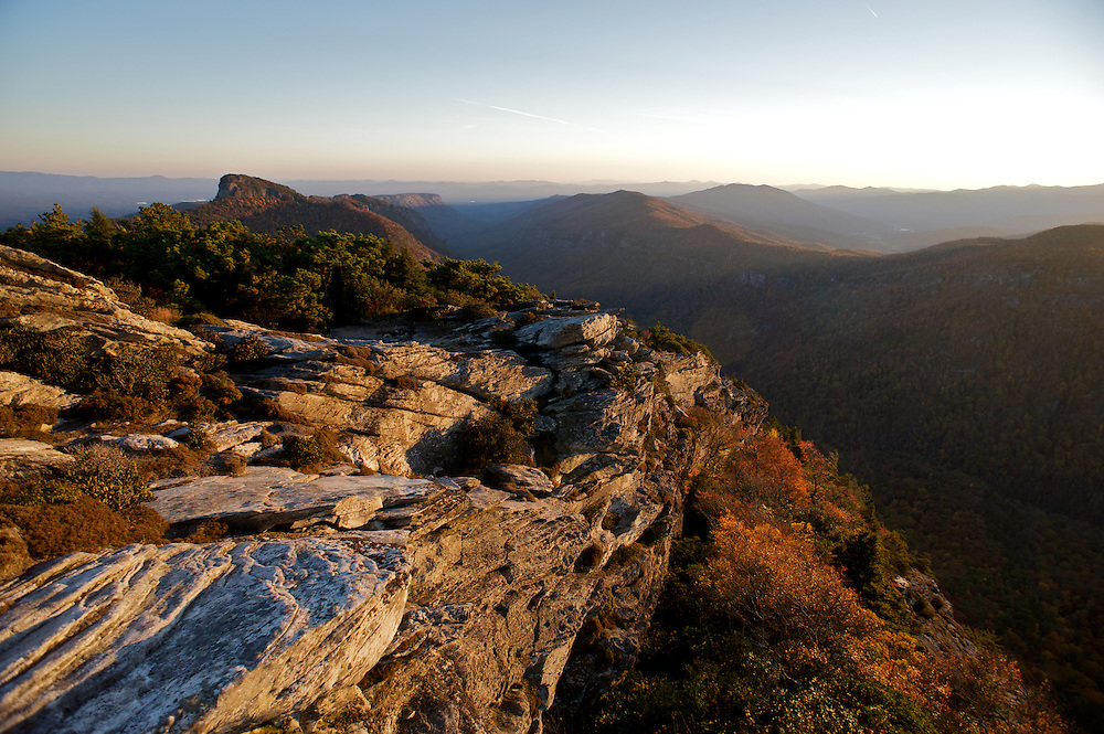 Table Rock Mountain as seen from the summit of Hawksbill Mountain, North Carolina.