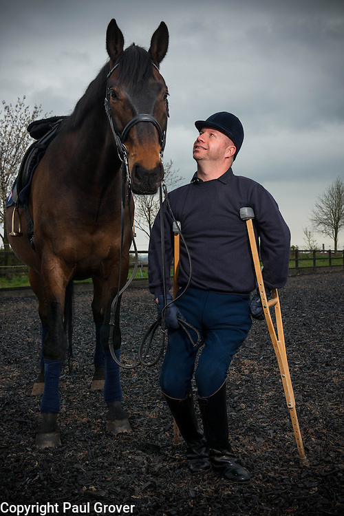 .David Lee Pearson, CBE (born February 4, 1974) is a nine-times paralympic games gold medallist having represented British para-equestrianism in Sydney, Athens and Beijing. He also has six world-championship and three European titles. He was born with arthrogryposis multiplex congenita and first came to public attention in 1980 when British Prime-Minister Margaret Thatcher carried him up the staircase in 10 Downing Street having awarded him a 'Children of Courage' medal. Pic Show Lee riding a quad bike with his 7 dogs