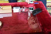 Ziad Takieddine at his home in Paris March 2013 photograph © Nigel Dickinson..Ziad Takieddine, a Lebanese-French businessman, an intermediary in the world of international contracts, often in relation to arms sales, which have many political and financial scandals attached. He facilitated arms dealing between France and Middle East countries, including Saudi Arabia, Pakistan, Syria and Libya. He is under investigation for allegedly using some of those funds to finance the unsuccessful presidential campaign of former French Prime Minister Edouard Balladur. This has led to the Karachi affair...Ziad Takieddine, né le 14juin1950 à Baakline, village druze de la montagne du Liban, est un homme d'affaires, un intermédiaire dans des contrats internationaux, dont le nom a souvent été mêlé à des scandales politico-financiers. Dans l'Affaire Karachi, Ziad Takieddine est accusé d'avoir joué l'entremetteur entre la classe politique française et le Pakistan pour assurer la vente de frégates françaises. Il porte plainte contre l'ex-Premier ministre Édouard Balladur devant la Cour de justice de la République pour complicité et recel d'abus de biens sociaux dans le cadre de cette affaire. Après la levée de l'embargo militaire sur la Libye en 2004, Ziad Takieddine est devenu l'intermédiaire privilégié de la France pour négocier du matériel de guerre avec le régime de Mouammar Kadhafi